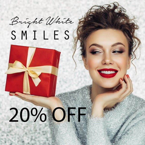 Go Into the Holidays with a Whiter, Brighter Smile – 20% off Special through December!